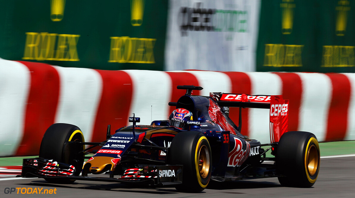 MONTREAL, QC - JUNE 05:  Max Verstappen of Netherlands and Scuderia Toro Rosso drives during practice for the Canadian Formula One Grand Prix at Circuit Gilles Villeneuve on June 5, 2015 in Montreal, Canada.  (Photo by Charles Coates/Getty Images) // Getty Images/Red Bull Content Pool // P-20150605-10021 // Usage for editorial use only // Please go to www.redbullcontentpool.com for further information. //  Canadian F1 Grand Prix - Practice Charles Coates Montreal (City) Canada  P-20150605-10021