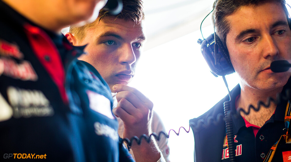 MONTREAL, QC - JUNE 05:  Max Verstappen of Scuderia Toro Rosso and The Netherlands during practice for the Canadian Formula One Grand Prix at Circuit Gilles Villeneuve on June 5, 2015 in Montreal, Canada.  (Photo by Peter Fox/Getty Images) // Getty Images/Red Bull Content Pool // P-20150605-10023 // Usage for editorial use only // Please go to www.redbullcontentpool.com for further information. //  Canadian F1 Grand Prix - Practice Peter Fox Montreal (City) Canada  P-20150605-10023