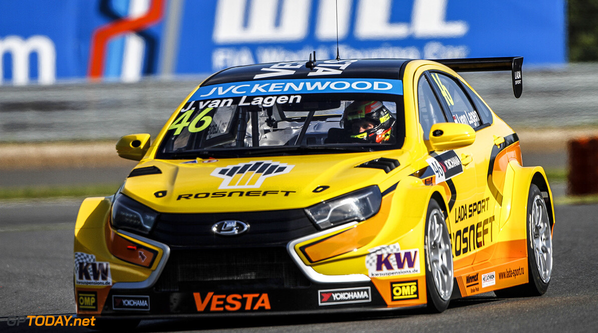 46 VAN LAGEN Jaap Lada Vesta WTCC during the 2015 FIA WTCC World Touring Car Race of Moscow at Moscow Raceway, Russia from June 5th to 7th 2015. Photo Antonin Grenier / DPPI. AUTO - WTCC MOSCOW 2015 Antonin Grenier Moscow Russia  Auto CHAMPIONNAT DU MONDE COURSE FIA HONGRIE Motorsport WTCC circuit europe tourisme