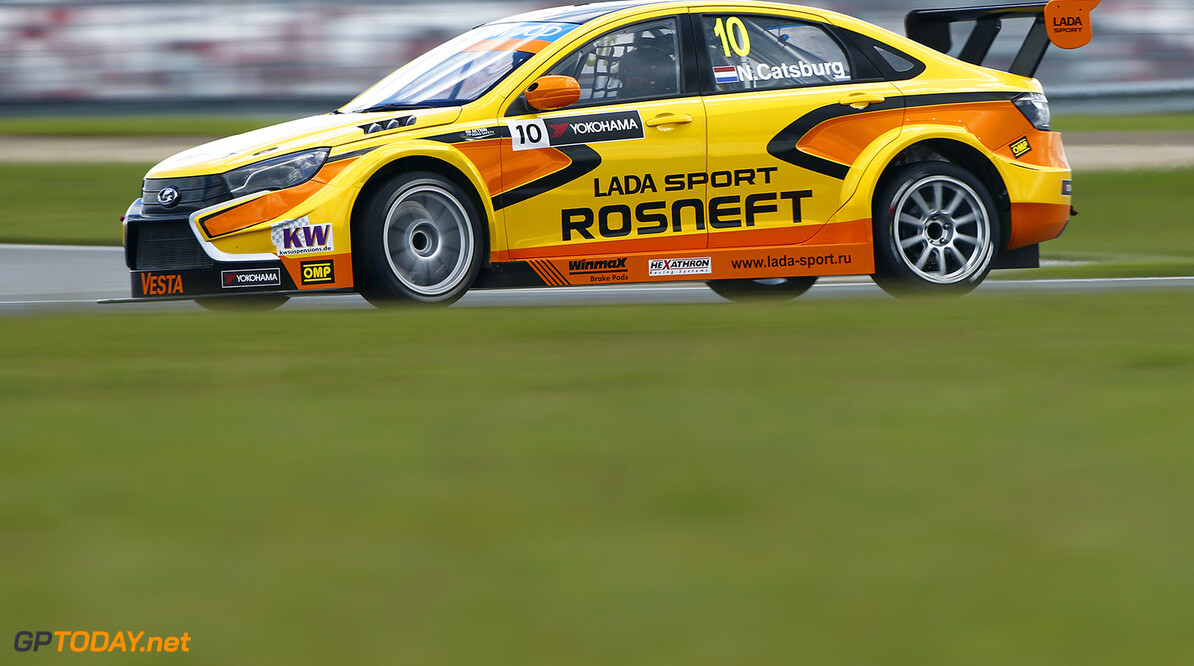 10 CATSBURG Nicky (nld) Lada Vesta team Lada Sport Rosneft action   during the 2015 FIA WTCC World Touring Car Race of Moscow at Moscow Raceway, Russia from June 5th to 7th 2015. Photo Frederic Le Floch / DPPI. AUTO - WTCC MOSCOW 2015 Frederic Le Floch Moscow Russia  Auto CHAMPIONNAT DU MONDE CIRCUIT COURSE Europe FIA HONGRIE Motorsport TOURISME WTCC