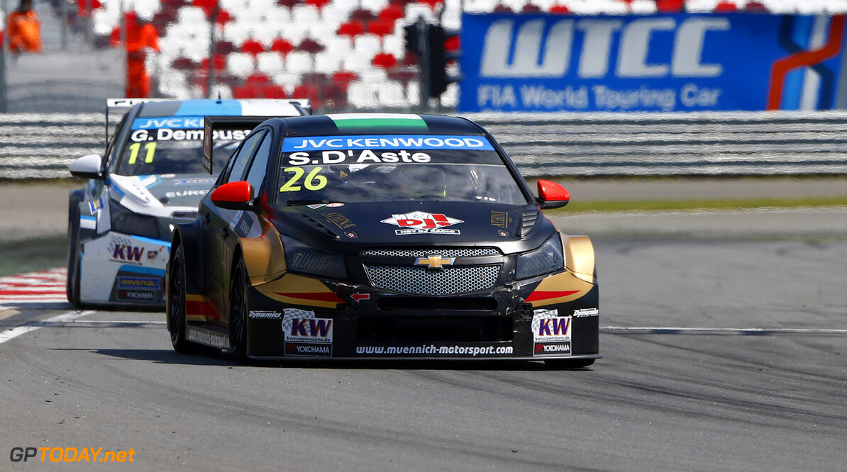26 D'ASTE Stefano (ita) Chevrolet Cruze team Munnich motorsport action   during the 2015 FIA WTCC World Touring Car Race of Moscow at Moscow Raceway, Russia from June 5th to 7th 2015. Photo Frederic Le Floch / DPPI. AUTO - WTCC MOSCOW 2015 Frederic Le Floch Moscow Russia  Auto CHAMPIONNAT DU MONDE CIRCUIT COURSE Europe FIA HONGRIE Motorsport TOURISME WTCC