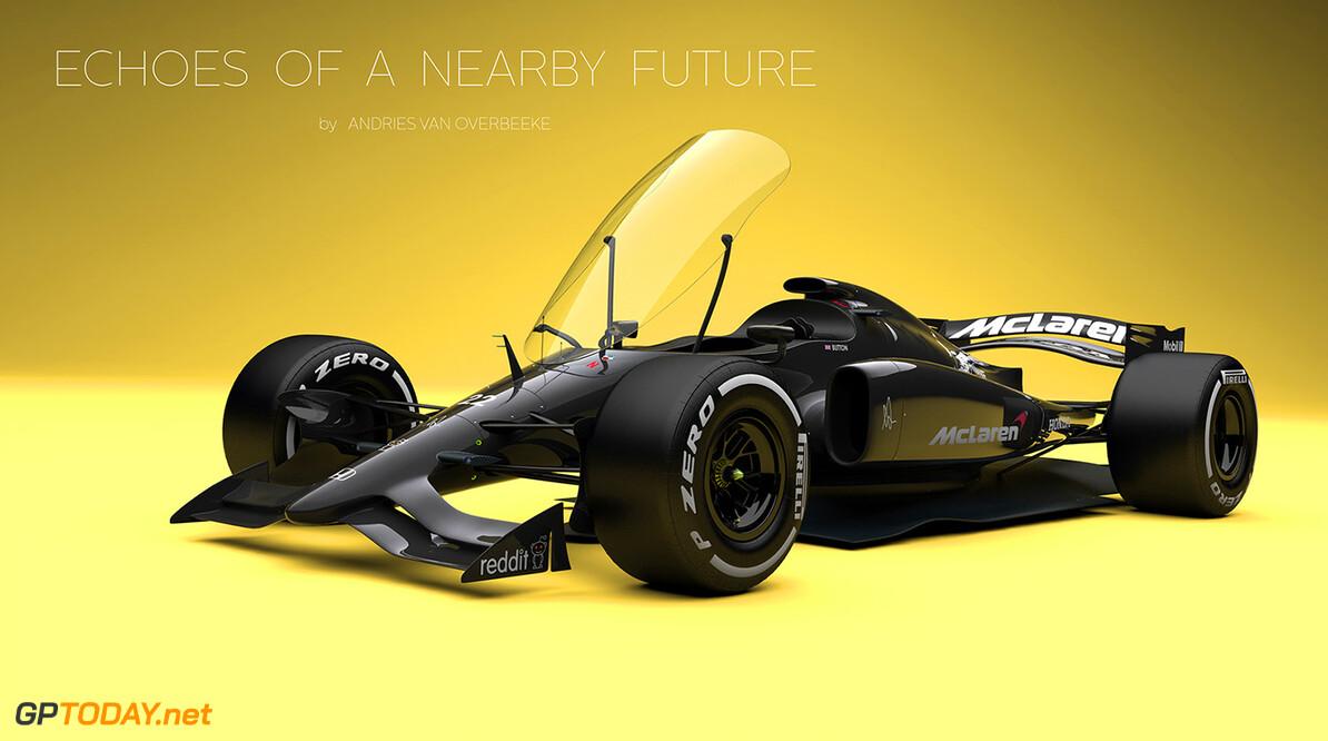 Concept voor Formule 1-auto van de toekomst