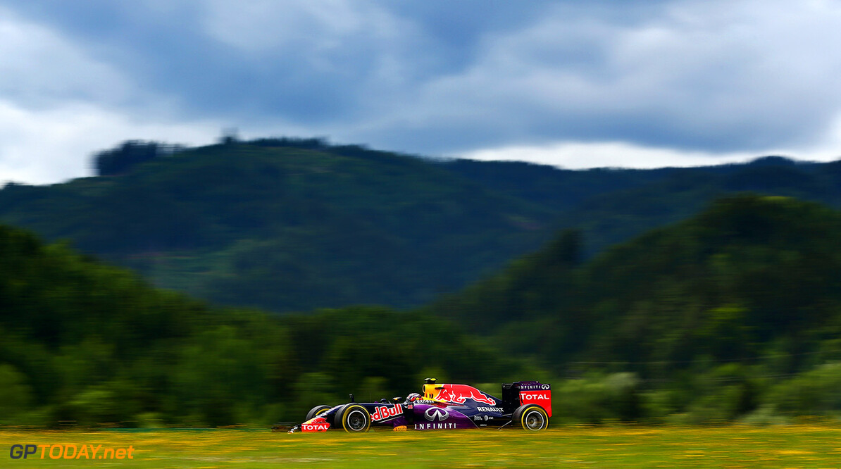 SPIELBERG, AUSTRIA - JUNE 19:  Daniil Kvyat of Russia and Infiniti Red Bull Racing drives during practice for the Formula One Grand Prix of Austria at Red Bull Ring on June 19, 2015 in Spielberg, Austria.  (Photo by Clive Mason/Getty Images) // Getty Images/Red Bull Content Pool // P-20150619-00543 // Usage for editorial use only // Please go to www.redbullcontentpool.com for further information. //  F1 Grand Prix of Austria - Practice Clive Mason Spielberg Bei Knittelfeld Austria  P-20150619-00543