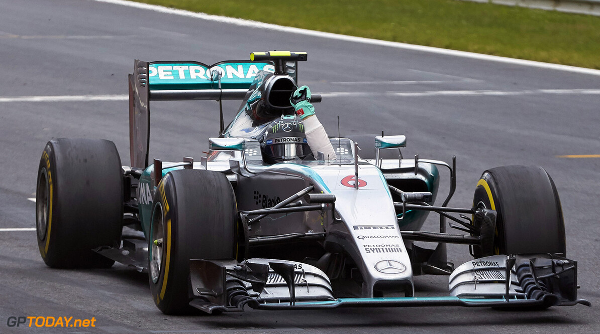 Rosberg celebrates first win in almost five months
