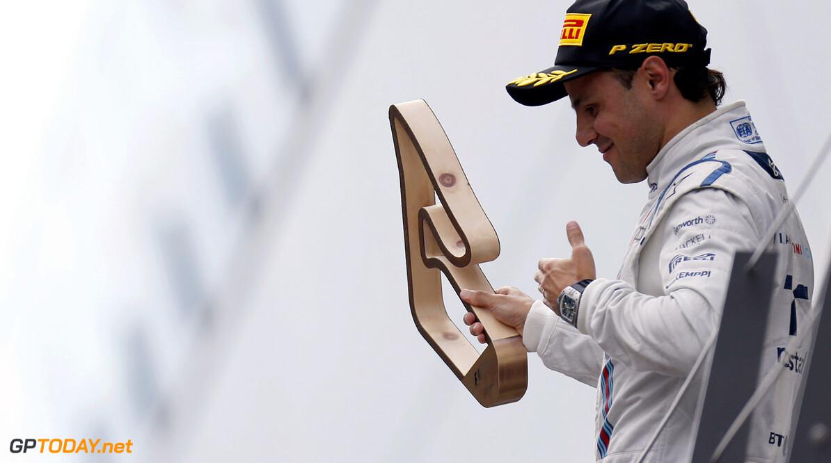 Circuit Gilles Villeneuve, Montreal, Canada. Sunday 21 June 2015. Felipe Massa, Williams F1, 3rd Position, with his trophy on the podium. Photo: Alastair Staley/Williams ref: Digital Image WR6T7003  Al Staley    Portrait Podium
