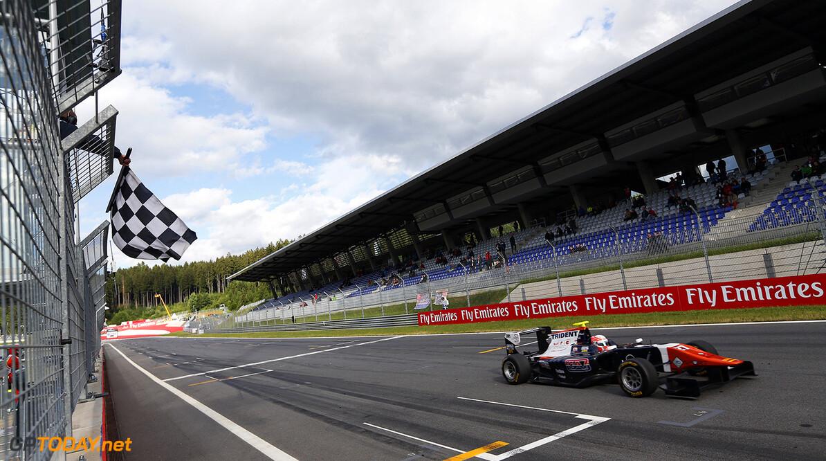 2015 GP3 Series Round 2. Red Bull Ring, Spielberg, Austria. Saturday 20 June 2015. Luca Ghiotto (ITA, Trident)  Photo:  Sam Bloxham/GP3 Media Service ref: Digital Image _SBL6109  Sam Bloxham    Race One
