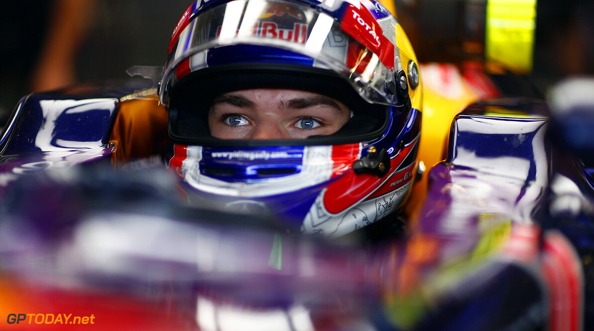 SPIELBERG, AUSTRIA - JUNE 23:  Pierre Gasly of France and Infiniti Red Bull Racing is seen driving during Formula One testing at the Red Bull Ring on June 23, 2015 in Spielberg, Austria.  (Photo by Andrew Hone/Getty Images) // Getty Images/Red Bull Content Pool // P-20150623-00452 // Usage for editorial use only // Please go to www.redbullcontentpool.com for further information. //  F1 Testing In Austria Andrew Hone Spielberg Bei Knittelfeld Austria  P-20150623-00452