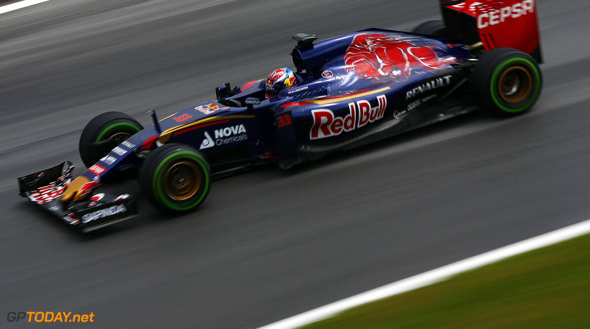 SPIELBERG, AUSTRIA - JUNE 23:   Max Verstappen of the Netherlands drives the Scuderia Toro Rosso during Formula One testing at the Red Bull Ring on June 23, 2015 in Spielberg, Austria.  (Photo by Andrew Hone/Getty Images) // Getty Images/Red Bull Content Pool // P-20150623-00396 // Usage for editorial use only // Please go to www.redbullcontentpool.com for further information. //  F1 Testing In Austria Andrew Hone Spielberg Bei Knittelfeld Austria  P-20150623-00396