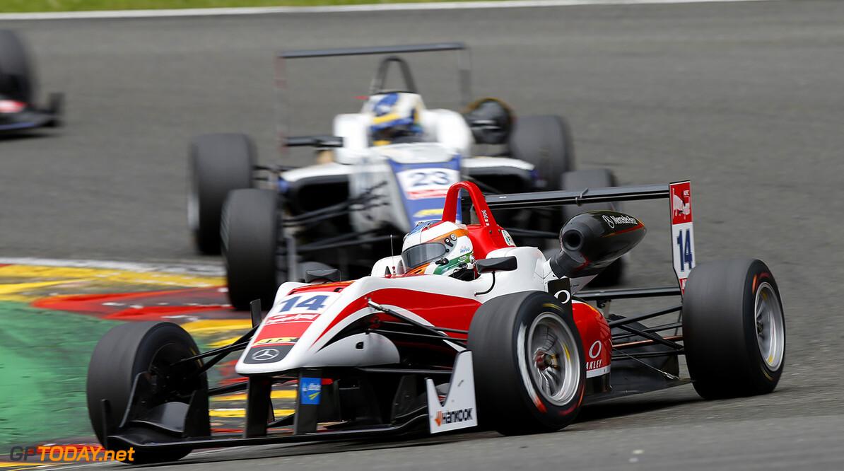 FIA Formula 3 European Championship, round 5, race 1, Spa-Franco 14 Matthew Rao (GBR, Fortec Motorsports, Dallara F312 - Mercedes-Benz), 23 Sergio Sette Camara (BRA, Motopark, Dallara F312 - Volkswagen), FIA Formula 3 European Championship, round 5, race 1, Spa-Francorchamps (BEL) - 19. - 21. June 2015 FIA Formula 3 European Championship, round 5, race 1, Spa-Francorchamps (BEL) Thomas Suer Spa-Francorchamps Belgium