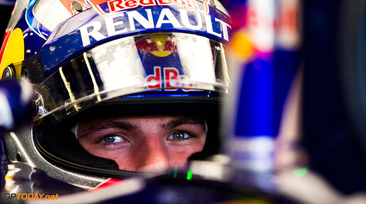 NORTHAMPTON, ENGLAND - JULY 03:  Max Verstappen of Scuderia Toro Rosso and The Netherlands during practice for the Formula One Grand Prix of Great Britain at Silverstone Circuit on July 3, 2015 in Northampton, England.  (Photo by Peter Fox/Getty Images) // Getty Images/Red Bull Content Pool // P-20150703-00441 // Usage for editorial use only // Please go to www.redbullcontentpool.com for further information. //  F1 Grand Prix of Great Britain - Practice Peter Fox Silverstone United Kingdom  P-20150703-00441