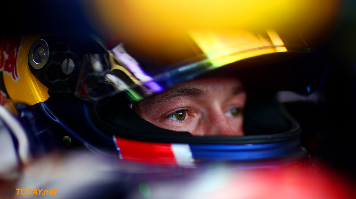 NORTHAMPTON, ENGLAND - JULY 03:  Daniil Kvyat of Russia and Infiniti Red Bull Racing sits in his car in the garage during practice for the Formula One Grand Prix of Great Britain at Silverstone Circuit on July 3, 2015 in Northampton, England.  (Photo by Dan Istitene/Getty Images) // Getty Images/Red Bull Content Pool // P-20150703-00391 // Usage for editorial use only // Please go to www.redbullcontentpool.com for further information. //  F1 Grand Prix of Great Britain - Practice Dan Istitene Silverstone United Kingdom  P-20150703-00391