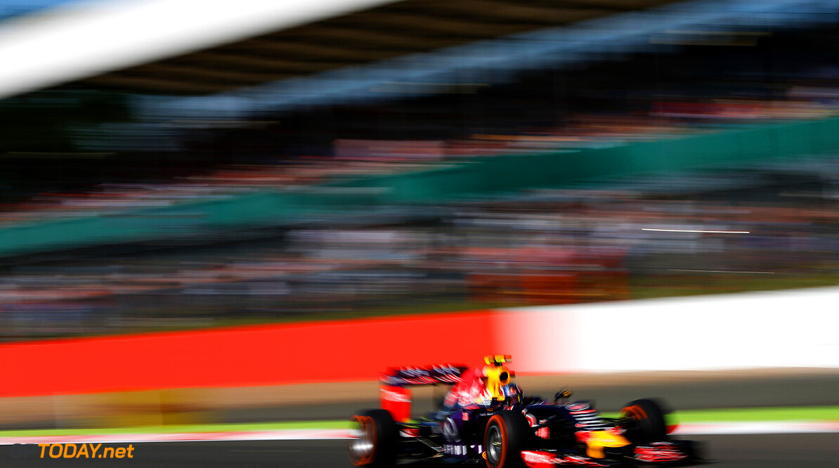 NORTHAMPTON, ENGLAND - JULY 03:  Daniil Kvyat of Russia and Infiniti Red Bull Racing drives during practice for the Formula One Grand Prix of Great Britain at Silverstone Circuit on July 3, 2015 in Northampton, England.  (Photo by Charles Coates/Getty Images) // Getty Images/Red Bull Content Pool // P-20150703-00372 // Usage for editorial use only // Please go to www.redbullcontentpool.com for further information. //  F1 Grand Prix of Great Britain - Practice Charles Coates Silverstone United Kingdom  P-20150703-00372