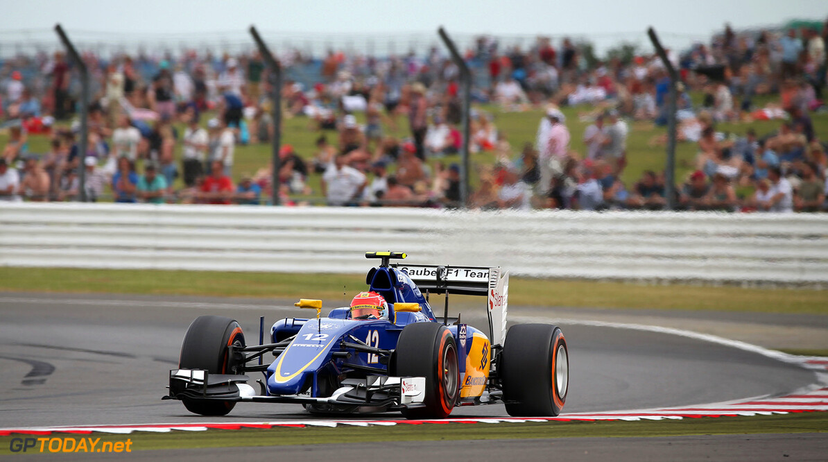 British GP Thursday 02/07/15 Felipe Nasr (BRA) Sauber F1 Team. 