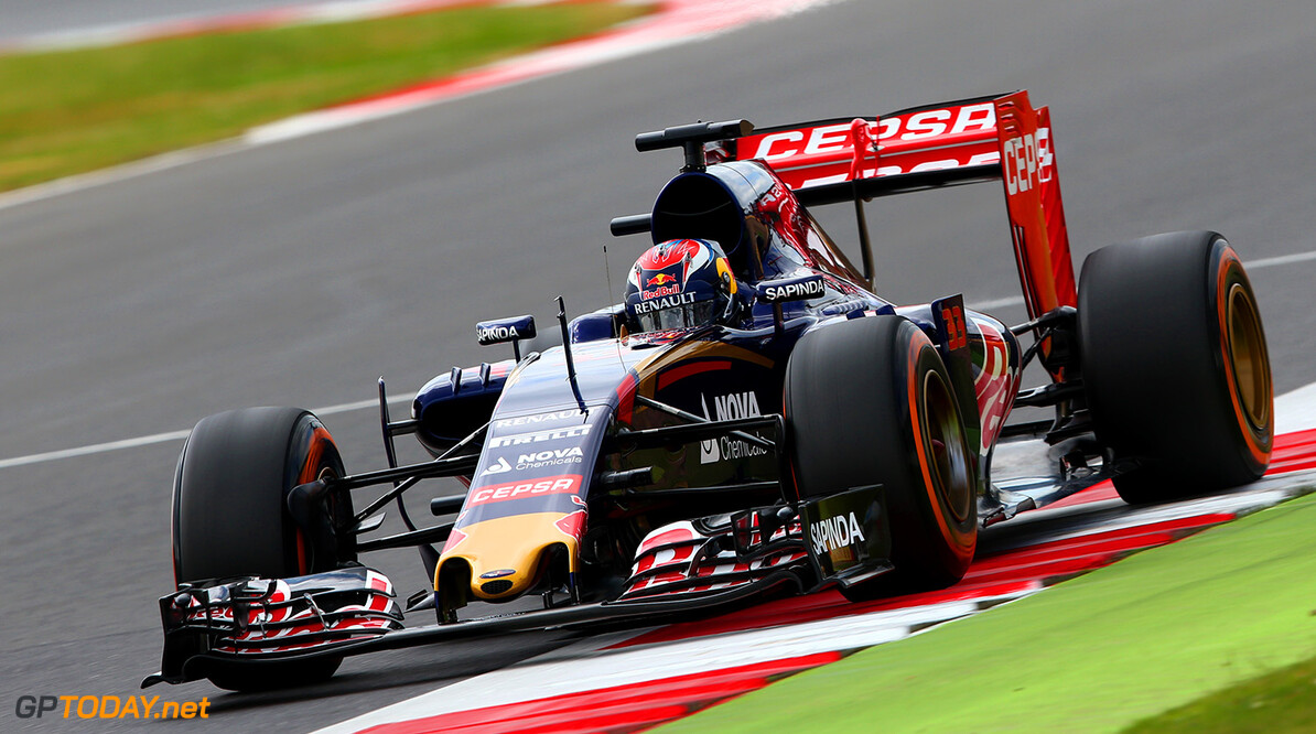 NORTHAMPTON, ENGLAND - JULY 04:  Max Verstappen of Netherlands and Scuderia Toro Rosso drives during final practice for the Formula One Grand Prix of Great Britain at Silverstone Circuit on July 4, 2015 in Northampton, England.  (Photo by Mark Thompson/Getty Images) // Getty Images/Red Bull Content Pool // P-20150704-00159 // Usage for editorial use only // Please go to www.redbullcontentpool.com for further information. //  F1 Grand Prix of Great Britain - Qualifying Mark Thompson Silverstone United Kingdom  P-20150704-00159