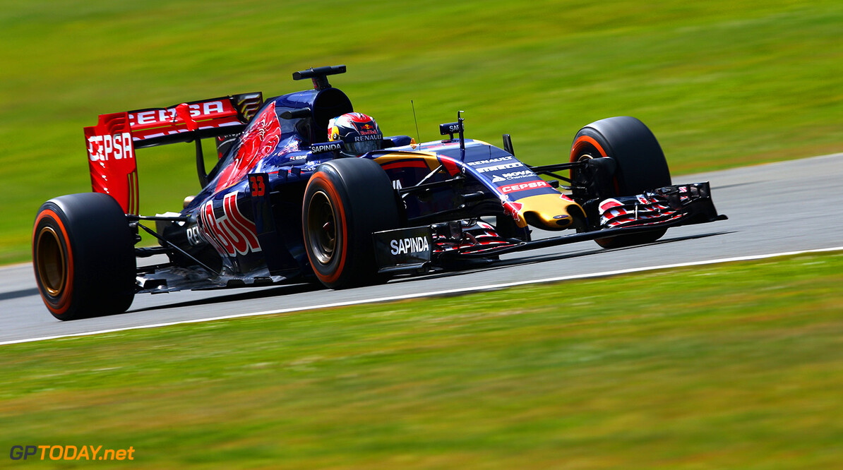 NORTHAMPTON, ENGLAND - JULY 04:  Max Verstappen of Netherlands and Scuderia Toro Rosso drives during final practice for the Formula One Grand Prix of Great Britain at Silverstone Circuit on July 4, 2015 in Northampton, England.  (Photo by Clive Mason/Getty Images) // Getty Images/Red Bull Content Pool // P-20150704-00161 // Usage for editorial use only // Please go to www.redbullcontentpool.com for further information. //  F1 Grand Prix of Great Britain - Qualifying Clive Mason Silverstone United Kingdom  P-20150704-00161