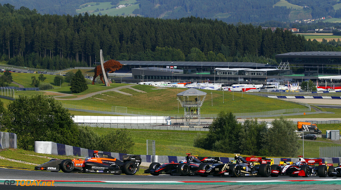 Start of the race 2. 17 NISSANY Roy (ISR) Tech 1 Racing (FRA) action during the 2015 Formula Renault 3.5 race at Red Bull Ring, Spielberg, Austria, from July 10th to 12th 2015. Photo DPPI / Florent Gooden. Auto - Fr 3.5 race at Red Bull Ring 2015 Florent Gooden Spielberg Austria  AUTO CAR FR FR 3.5 Formule Renault MONOPLACE Motorsport Race UNIPLACE WSR World Series by Renault