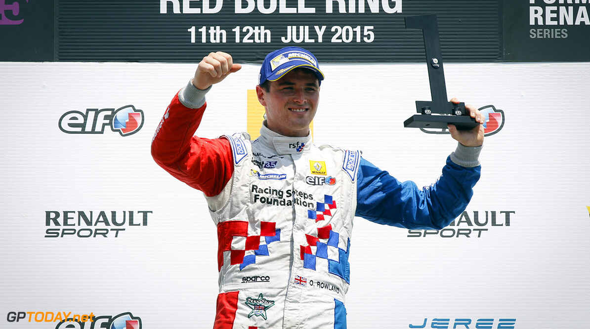 ROWLAND Oliver (GBR) Fortec Motorsports (GBR) ambiance portrait during the 2015 Formula Renault 3.5 race at Red Bull Ring, Spielberg, Austria, from July 10th to 12th 2015. Photo DPPI / Florent Gooden. Auto - Fr 3.5 race at Red Bull Ring 2015 Florent Gooden Spielberg Austria  AUTO CAR FR FR 3.5 Formule Renault MONOPLACE Motorsport Race UNIPLACE WSR World Series by Renault