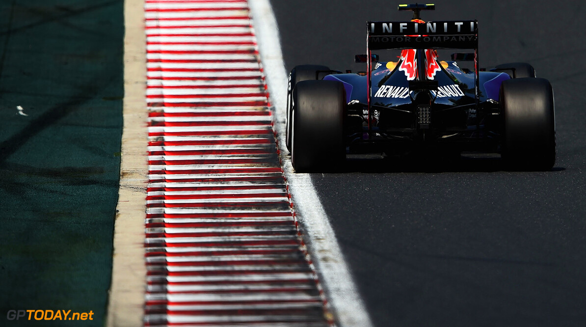 BUDAPEST, HUNGARY - JULY 24:  Daniil Kvyat of Russia and Infiniti Red Bull Racing drives during practice for the Formula One Grand Prix of Hungary at Hungaroring on July 24, 2015 in Budapest, Hungary.  (Photo by Lars Baron/Getty Images) // Getty Images/Red Bull Content Pool // P-20150724-00524 // Usage for editorial use only // Please go to www.redbullcontentpool.com for further information. //  F1 Grand Prix of Hungary - Practice Lars Baron Budapest Hungary  P-20150724-00524