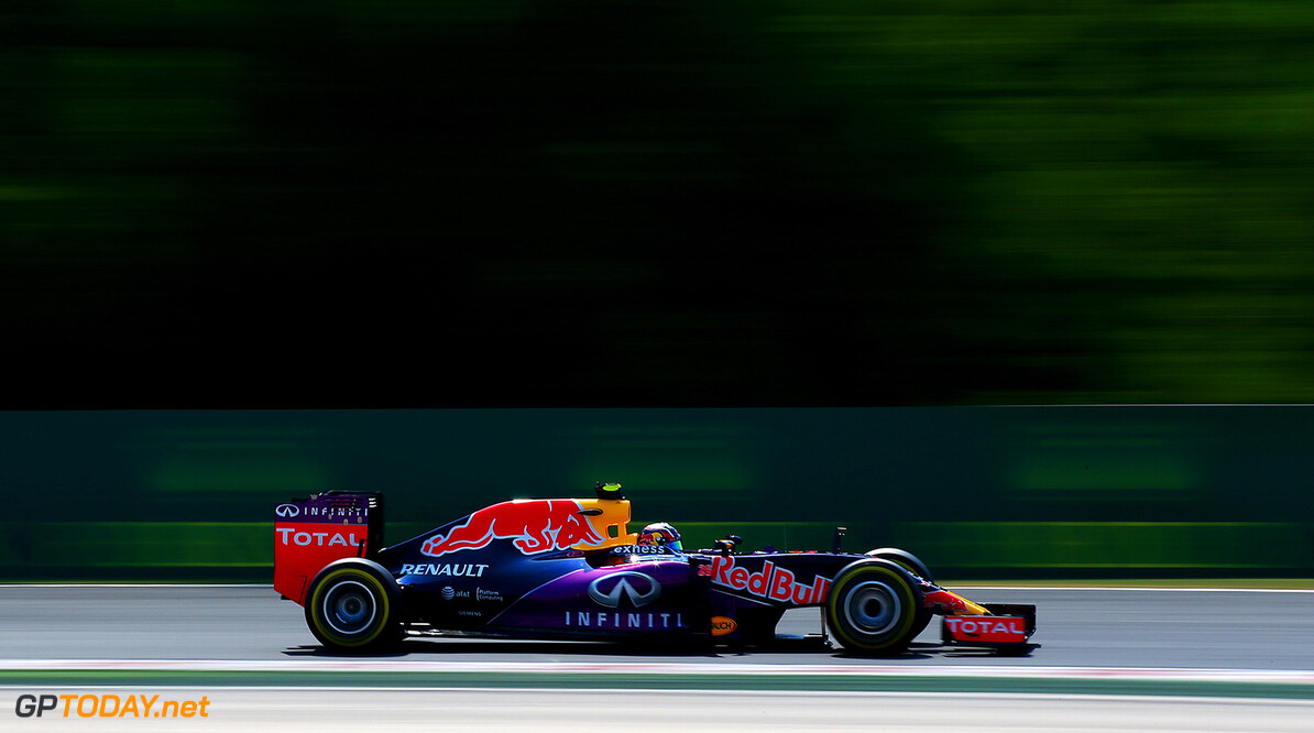 BUDAPEST, HUNGARY - JULY 24:  Daniil Kvyat of Russia and Infiniti Red Bull Racing drives during practice for the Formula One Grand Prix of Hungary at Hungaroring on July 24, 2015 in Budapest, Hungary.  (Photo by Mark Thompson/Getty Images) // Getty Images/Red Bull Content Pool // P-20150724-00488 // Usage for editorial use only // Please go to www.redbullcontentpool.com for further information. //  F1 Grand Prix of Hungary - Practice Mark Thompson Budapest Hungary  P-20150724-00488