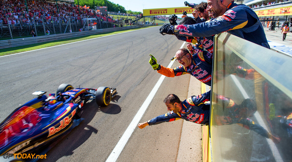 BUDAPEST, HUNGARY - JULY 26:  Max Verstappen of Scuderia Toro Rosso finishes 4th during the Formula One Grand Prix of Hungary at Hungaroring on July 26, 2015 in Budapest, Hungary.  (Photo by Peter Fox/Getty Images) // Getty Images/Red Bull Content Pool // P-20150726-00300 // Usage for editorial use only // Please go to www.redbullcontentpool.com for further information. //  F1 Grand Prix of Hungary Peter Fox Budapest Hungary  P-20150726-00300