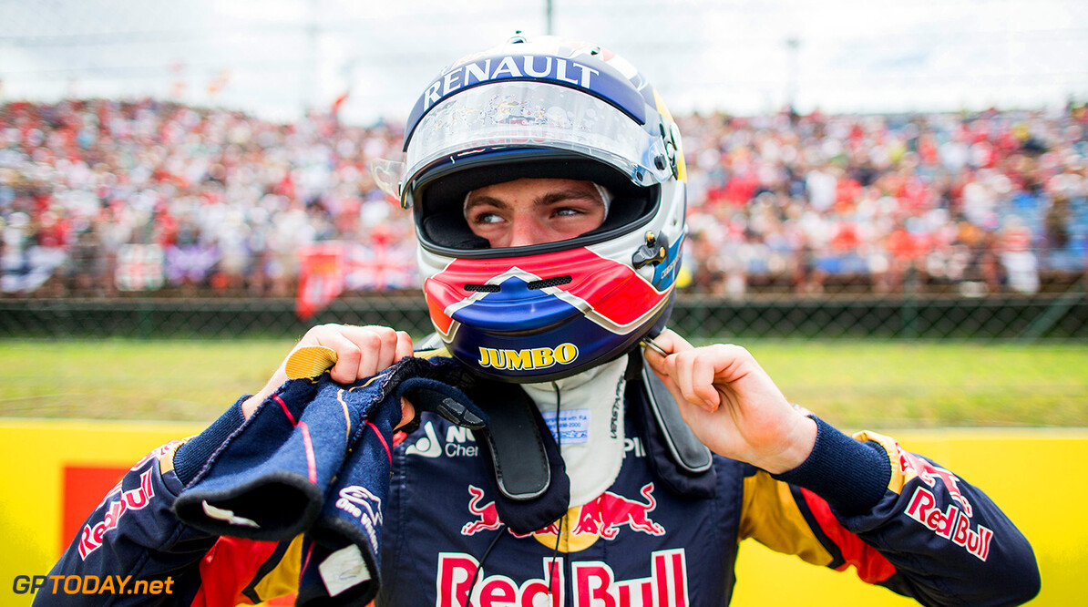 BUDAPEST, HUNGARY - JULY 26:  Max Verstappen of Scuderia Toro Rosso and The Netherlands during the Formula One Grand Prix of Hungary at Hungaroring on July 26, 2015 in Budapest, Hungary.  (Photo by Peter Fox/Getty Images) // Getty Images/Red Bull Content Pool // P-20150726-00454 // Usage for editorial use only // Please go to www.redbullcontentpool.com for further information. //  F1 Grand Prix of Hungary Peter Fox Budapest Hungary  P-20150726-00454
