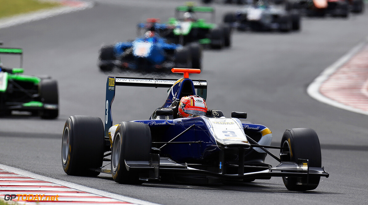 2015 GP3 Series Round 4.  Hungaroring, Budapest, Hungary. Sunday 26 July 2015. Mitchell Gilbert (AUS, Carlin)  Photo:  Alastair Staley/GP3 Media Service ref: Digital Image _R6T0446  Alastair Staley    race Two 2 action