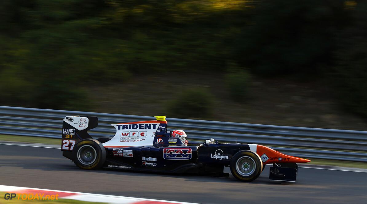 2015 GP3 Series Round 4. Hungaroring, Budapest, Hungary.  Friday 24 July 2015. Luca Ghiotto (ITA, Trident) Photo:  Sam Bloxham/GP3 Media Service ref: Digital Image _SBL5093  Sam Bloxham    practice action