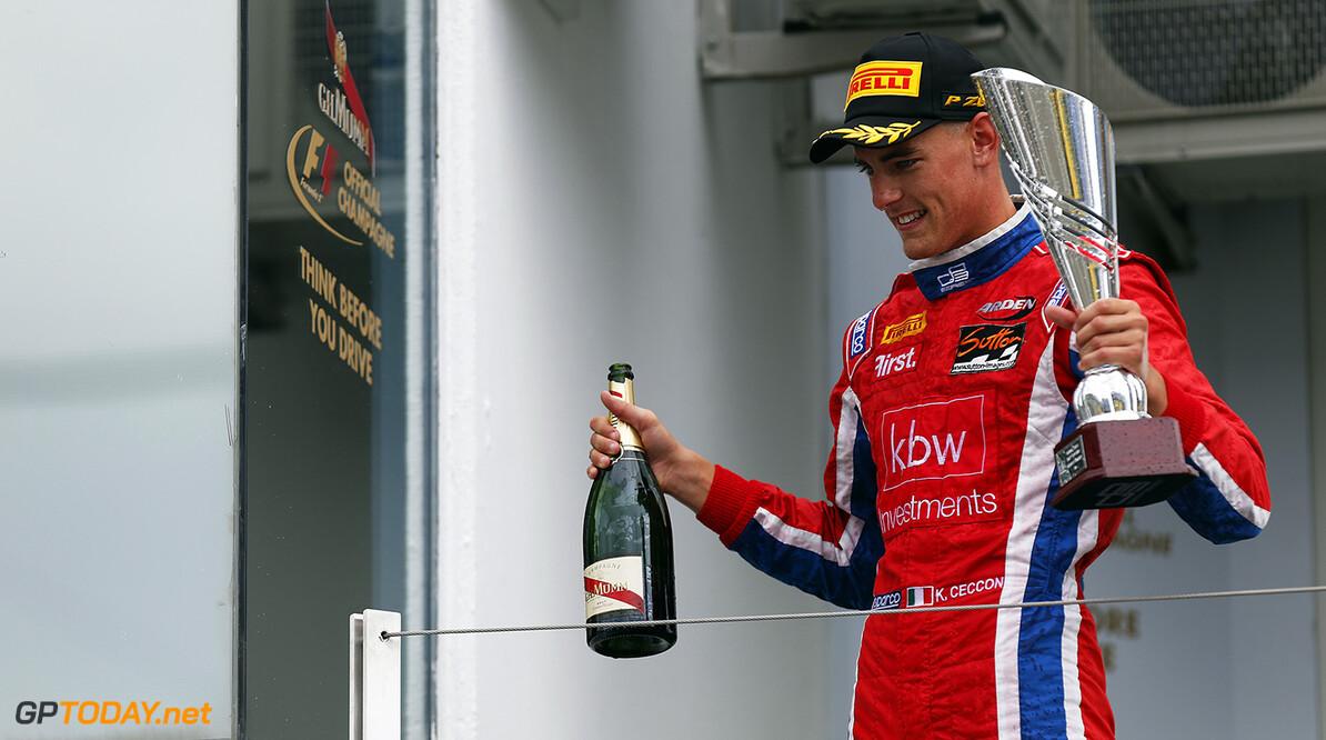 2015 GP3 Series Round 4.  Hungaroring, Budapest, Hungary. Sunday 26 July 2015. Kevin Ceccon (ITA, Arden International)  Photo:  Sam Bloxham/GP3 Media Service ref: Digital Image _79P9096  Sam Bloxham    race Two 2 portrait