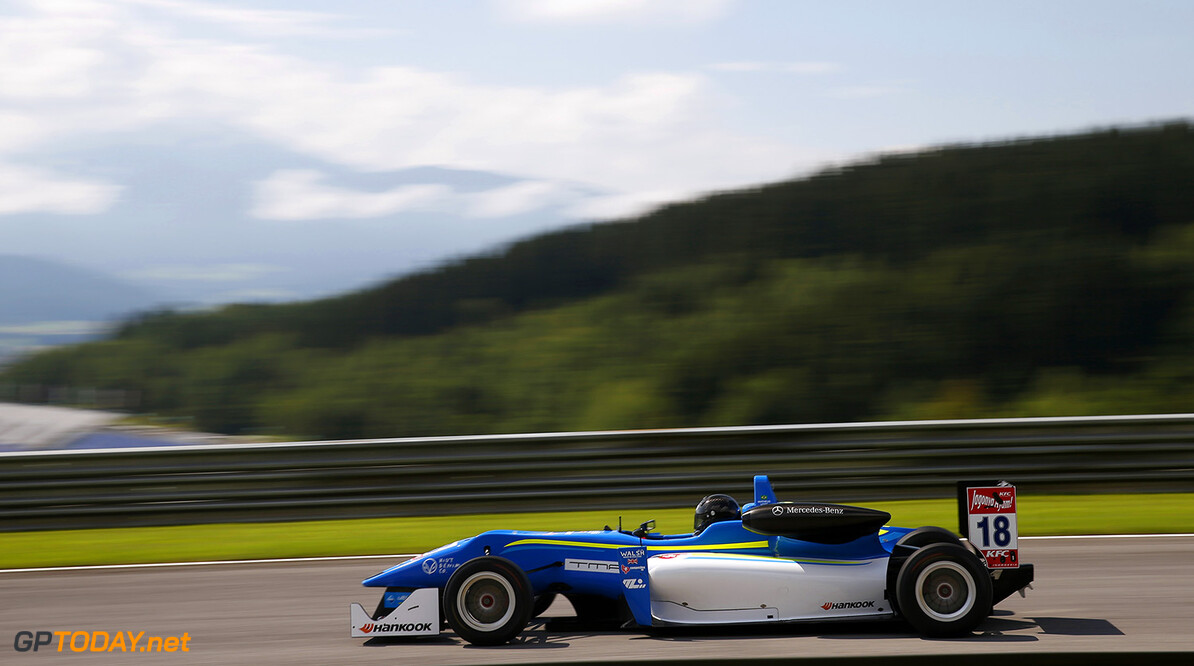 FIA Formula 3 European Championship, round 8, Red Bull Ring 18 Matheus Leist (BRA, Double R Racing, Dallara F312 - Mercedes-Benz), FIA Formula 3 European Championship, round 8, Red Bull Ring (AUT) - 31. July - 2. August 2015 FIA Formula 3 European Championship, round 8, Red Bull Ring (AUT) Thomas Suer Spielberg Austria