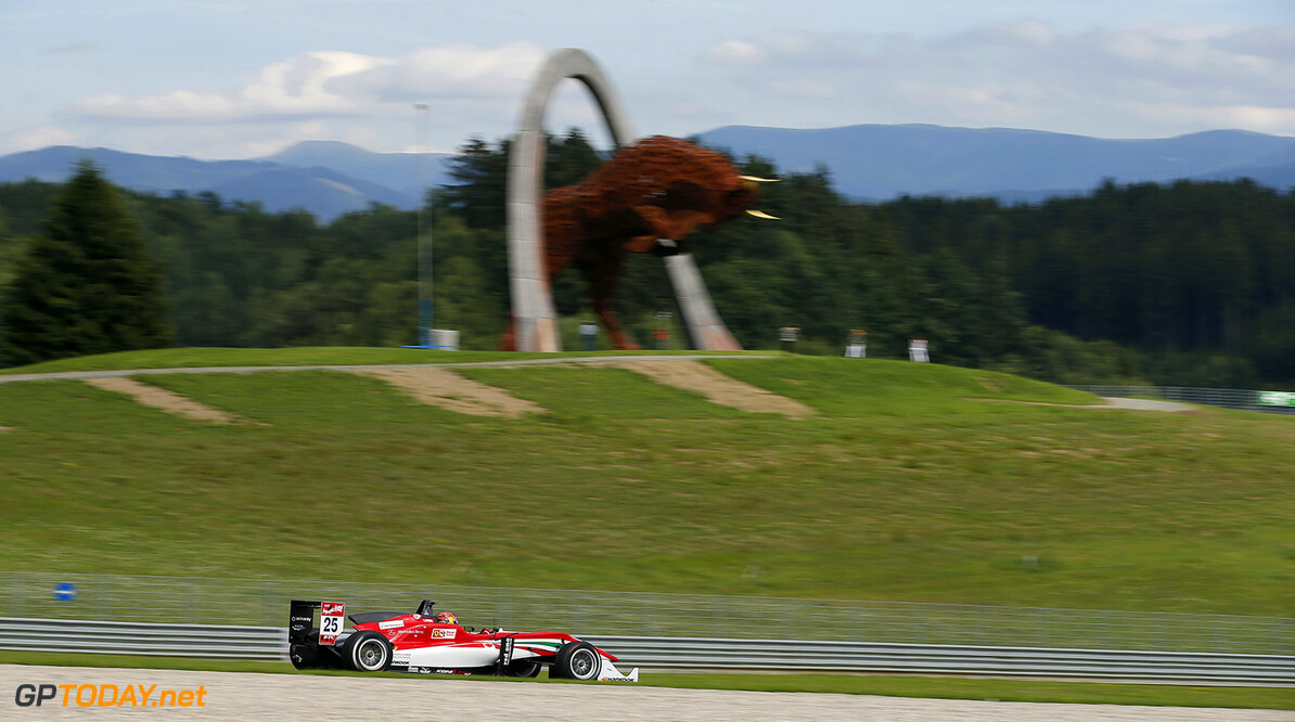 FIA Formula 3 European Championship, round 8, race 2, Red Bull R 25 Lance Stroll (CAN, Prema Powerteam, Dallara F312 - Mercedes-Benz), FIA Formula 3 European Championship, round 8, race 2, Red Bull Ring (AUT) - 31. July - 2. August 2015 FIA Formula 3 European Championship, round 8, race 2, Red Bull Ring (AUT) Thomas Suer Spielberg Austria