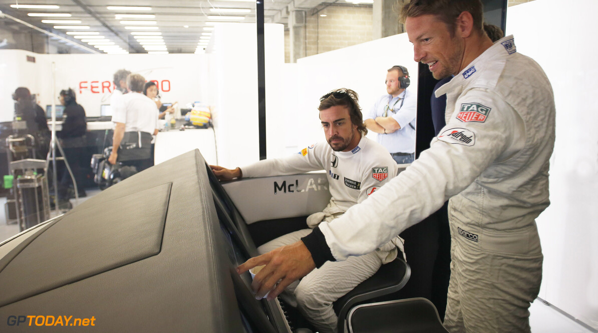 Alonso happy with big lead over Button at Spa