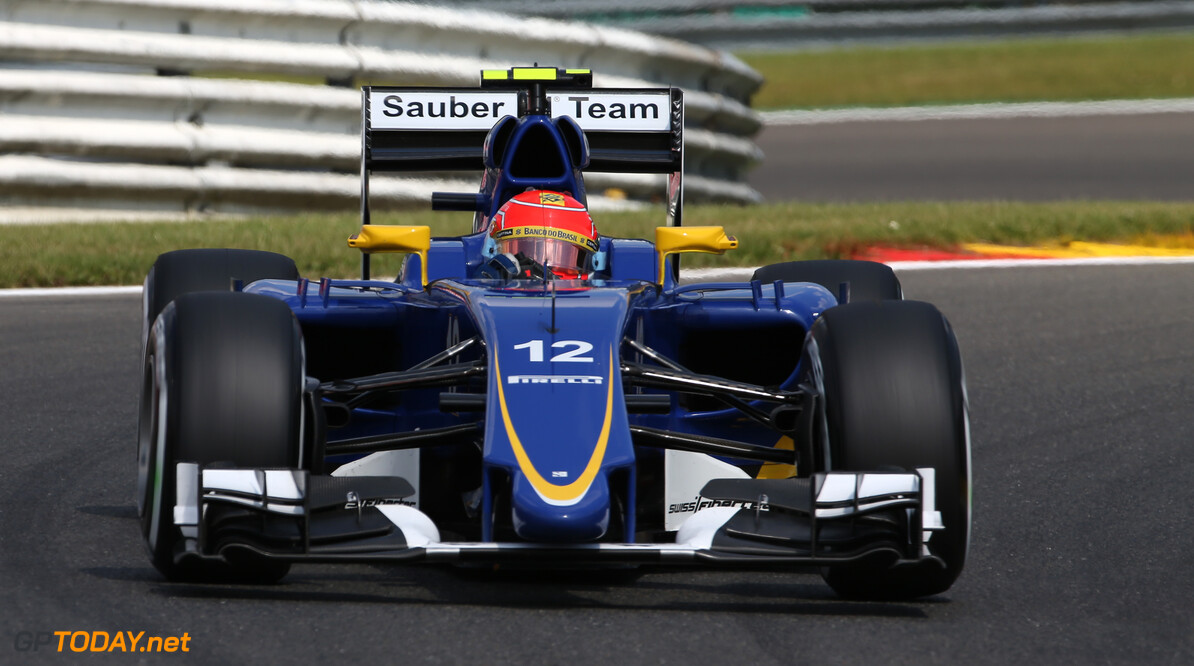 Belgium GP Friday 21/08/15 Felipe Nasr (BRA) Sauber F1 Team.  Circuit Spa-Francorchamps.  Belgium GP Friday 21/08/15 Jad Sherif                       Spa-Francorchamps Belgium  F1 Formula 1 One 2015 Action Nasr Sauber