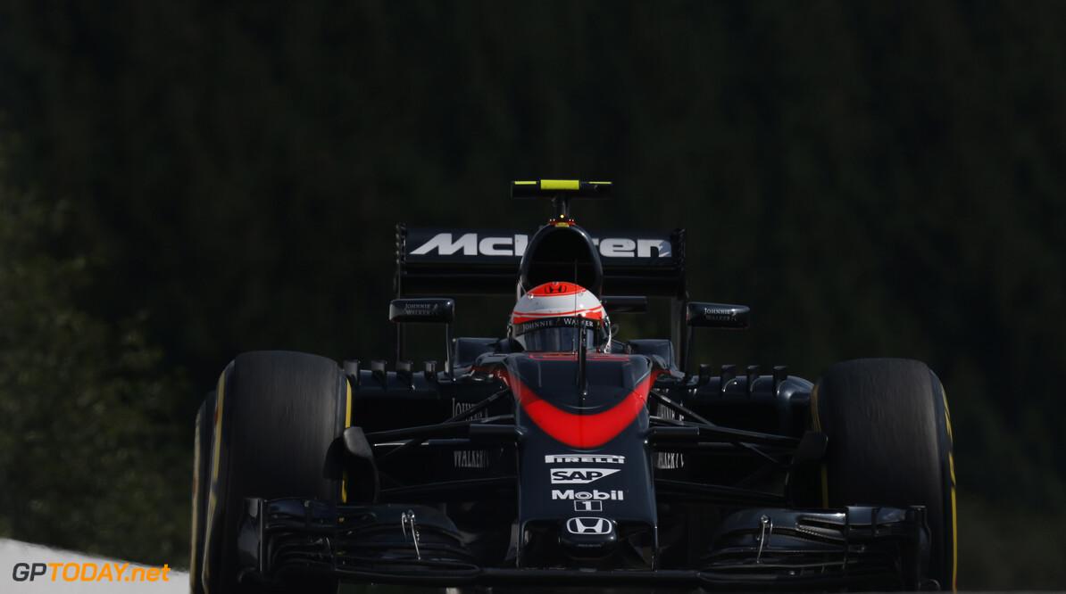 Jenson Button on track/