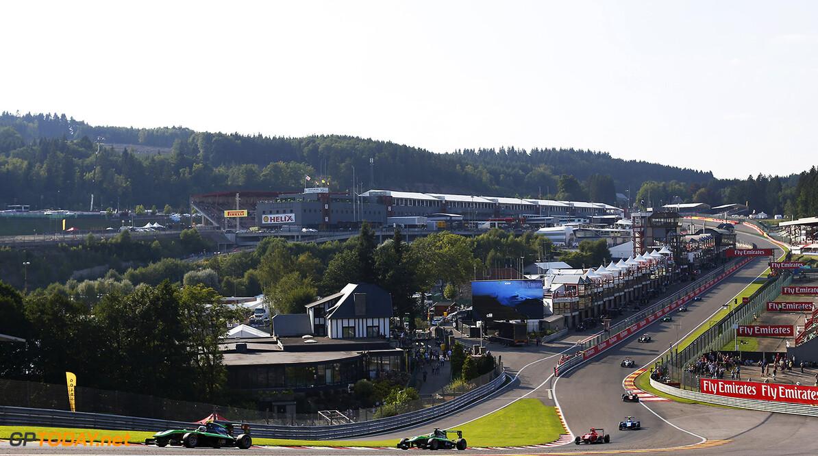 2015 GP3 Series Round 5. Spa-Francorchamps, Spa, Belgium. Saturday 22 August 2015. Alex Fontana (SUI, Status Grand Prix). Photo: Zak Mauger/GP3 Series Media Service. ref: Digital Image _L0U2914   Zak Mauger    Race One 1 race action