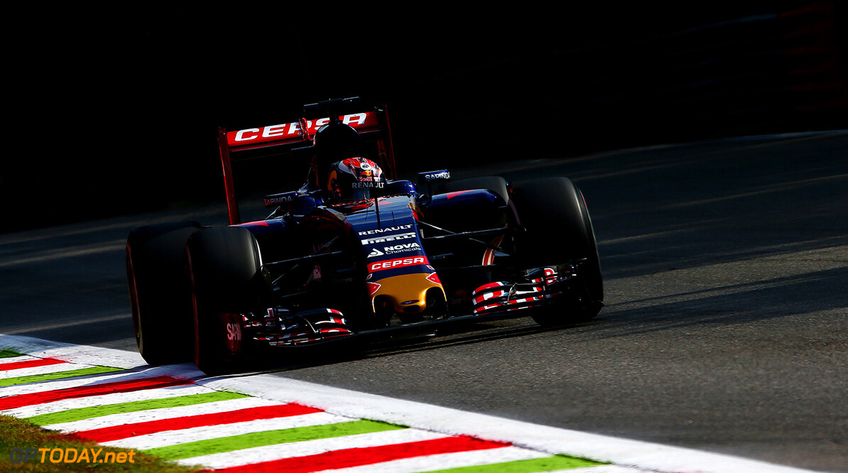 MONZA, ITALY - SEPTEMBER 04:  Max Verstappen of Netherlands and Scuderia Toro Rosso drives during practice for the Formula One Grand Prix of Italy at Autodromo di Monza on September 4, 2015 in Monza, Italy.  (Photo by Dan Istitene/Getty Images) // Getty Images/Red Bull Content Pool // P-20150904-00345 // Usage for editorial use only // Please go to www.redbullcontentpool.com for further information. //  F1 Grand Prix of Italy - Practice Dan Istitene Monza Italy  P-20150904-00345
