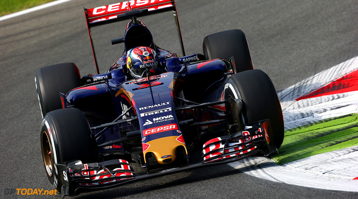 MONZA, ITALY - SEPTEMBER 04:  Max Verstappen of Netherlands and Scuderia Toro Rosso drives during practice for the Formula One Grand Prix of Italy at Autodromo di Monza on September 4, 2015 in Monza, Italy.  (Photo by Mark Thompson/Getty Images) // Getty Images/Red Bull Content Pool // P-20150904-00315 // Usage for editorial use only // Please go to www.redbullcontentpool.com for further information. //  F1 Grand Prix of Italy - Practice Mark Thompson Monza Italy  P-20150904-00315