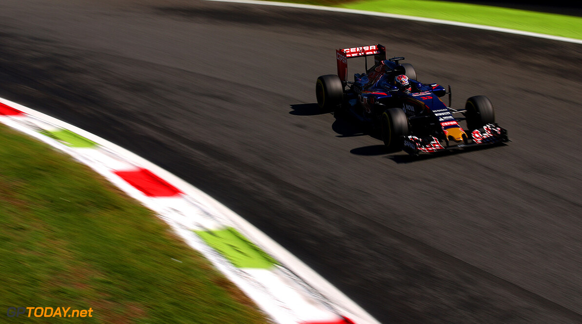 MONZA, ITALY - SEPTEMBER 05:  Max Verstappen of Netherlands and Scuderia Toro Rosso drives during final practice for the Formula One Grand Prix of Italy at Autodromo di Monza on September 5, 2015 in Monza, Italy.  (Photo by Bryn Lennon/Getty Images) // Getty Images/Red Bull Content Pool // P-20150905-00472 // Usage for editorial use only // Please go to www.redbullcontentpool.com for further information. //  F1 Grand Prix of Italy - Qualifying Bryn Lennon Monza Italy  P-20150905-00472