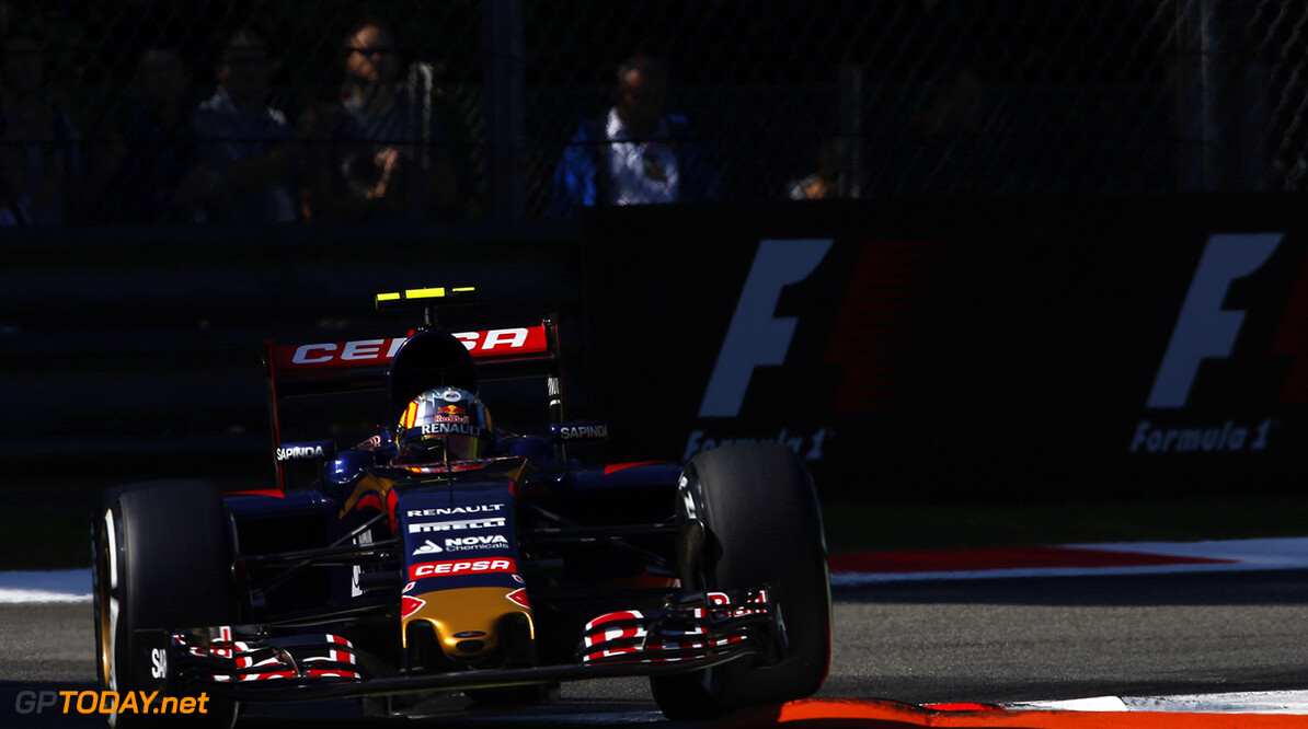MONZA, ITALY - SEPTEMBER 05:  Carlos Sainz of Spain and Scuderia Toro Rosso drives during final practice for the Formula One Grand Prix of Italy at Autodromo di Monza on September 5, 2015 in Monza, Italy.  (Photo by Charles Coates/Getty Images) // Getty Images/Red Bull Content Pool // P-20150905-00344 // Usage for editorial use only // Please go to www.redbullcontentpool.com for further information. //  F1 Grand Prix of Italy - Qualifying  Monza Italy  P-20150905-00344
