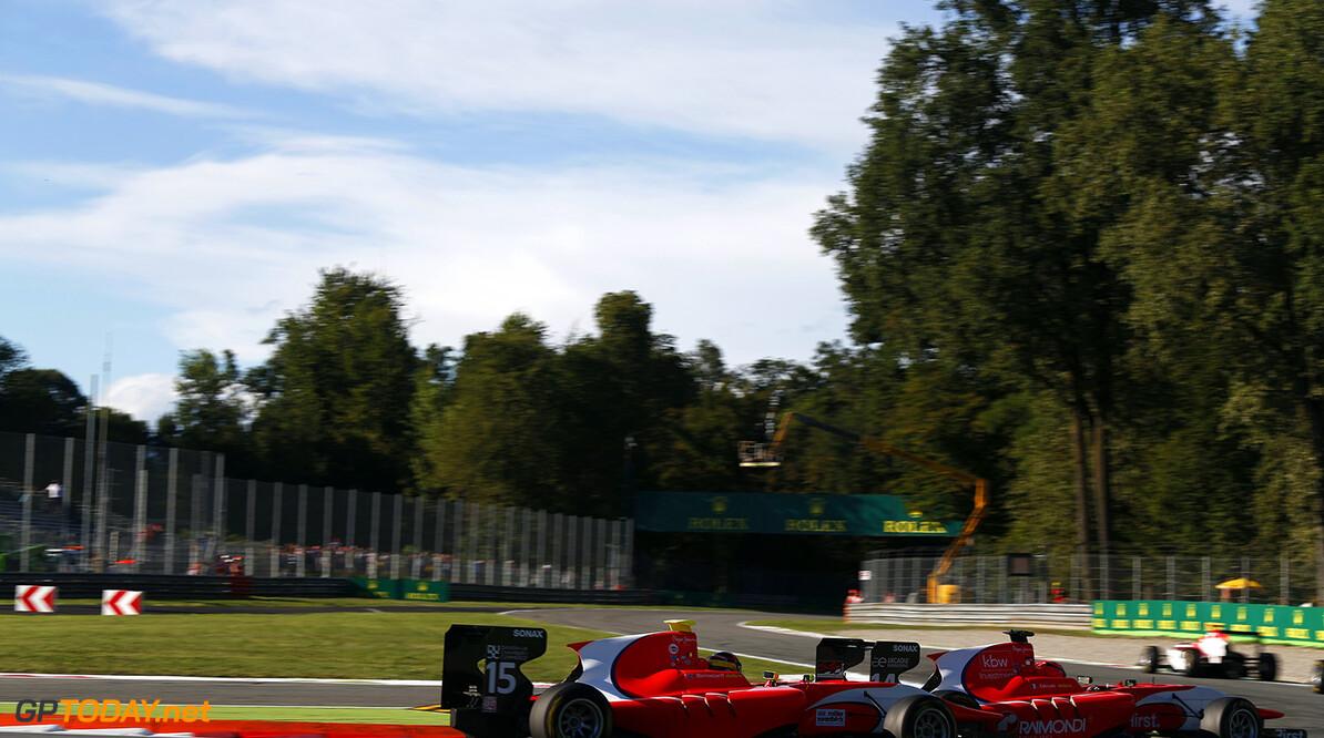 2015 GP3 Series Round 6. Autodromo di Monza, Italy. Saturday 5 September 2015. Kevin Ceccon (ITA, Arden International) leads Emil Bernstorff (GBR, Arden International)  Photo: Sam Bloxham/GP3 Series Media Service. ref: Digital Image _SBL3345  Sam Bloxham    Race One 1 race action