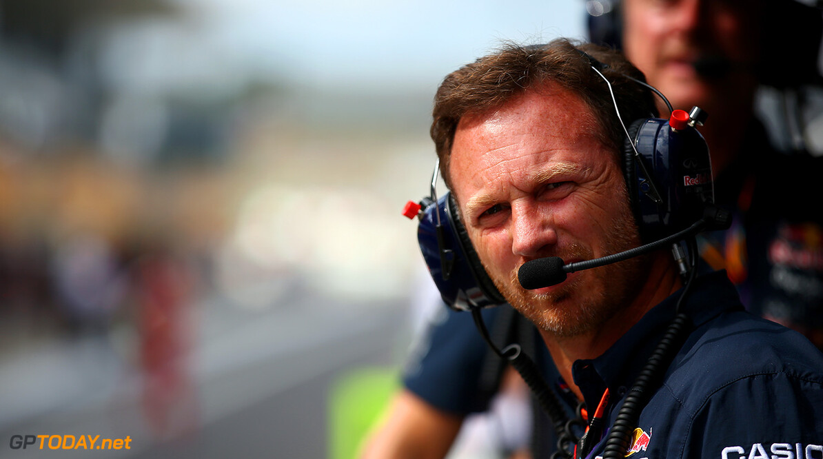 SUZUKA, JAPAN - SEPTEMBER 27:  Infiniti Red Bull Racing Team Principal Christian Horner looks on from the pit wall before the Formula One Grand Prix of Japan at Suzuka Circuit on September 27, 2015 in Suzuka, Japan.  (Photo by Mark Thompson/Getty Images) // Getty Images/Red Bull Content Pool // P-20150927-00234 // Usage for editorial use only // Please go to www.redbullcontentpool.com for further information. //  F1 Grand Prix of Japan Mark Thompson Suzuka Japan  P-20150927-00234