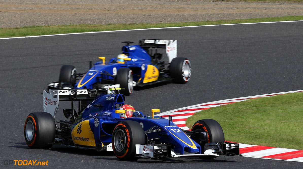Japanese GP Race 27/09/15 Felipe Nasr (BRA), Sauber F1 Team.  Suzuka Circuit.  Japanese GP Race 27/09/15 Jad Sherif                       Suzuka Japan  F1 Formula 1 One 2015 Action Nasr Sauber