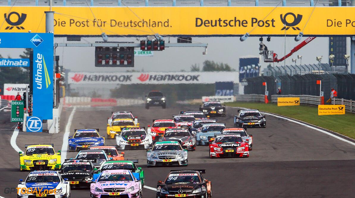 DTM Nuerburgring Motorsports: DTM race Nuerburgring, #36 Maxime Martin (BEL, BMW Team RMG, BMW M4 DTM), #22 Lucas Auer (AUT, Mercedes-AMG DTM Team ART, Mercedes-AMG C63 DTM), #94 Pascal Wehrlein (GER, Mercedes-AMG DTM Team HWA, Mercedes-AMG C 63 DTM) Motorsports: DTM race Nuerburgring Gruppe C / Hoch Zwei    Aktion - Action Aktionsbild Aktionsfoto Fahrbild Fahrszene - race action Motorsport - motor sport Partner01 Rennen - race Rennszene faehrt fahrend