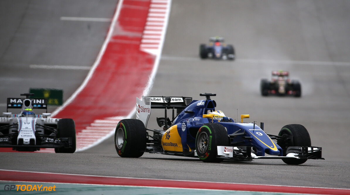 United States GP Race 25/10/15 Marcus Ericsson (SWE) Sauber F1 Team. 