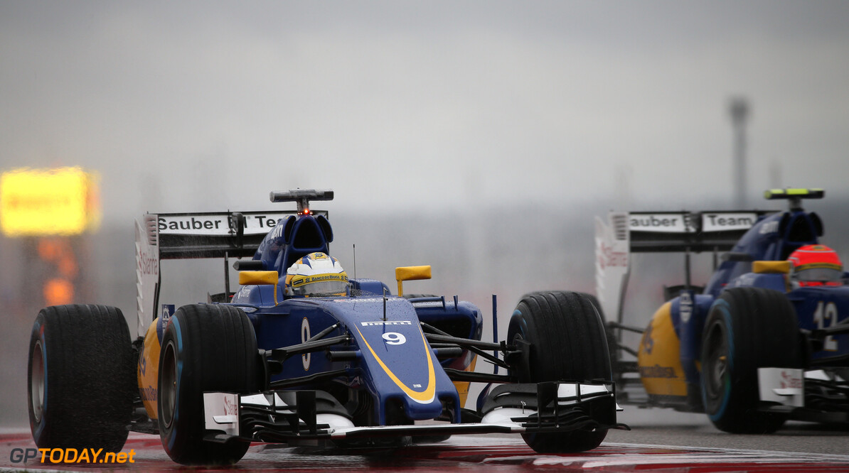 United States GP Sunday qualifying 25/10/15 Marcus Ericsson (SWE), Sauber F1 Team. 