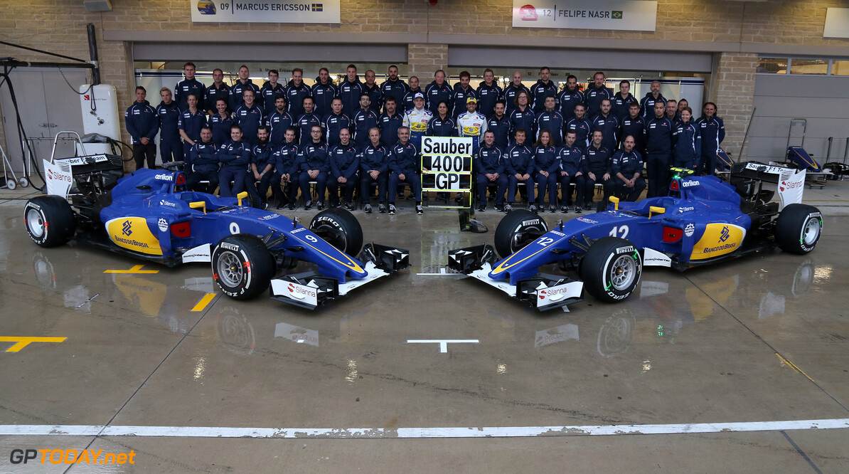 United States GP Sunday 25/10/15 Sauber F1 Team 400 GPs.