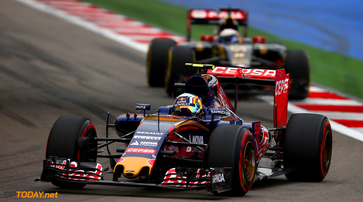 SOCHI, RUSSIA - OCTOBER 11:  Carlos Sainz of Spain and Scuderia Toro Rosso drives during the Formula One Grand Prix of Russia at Sochi Autodrom on October 11, 2015 in Sochi, Russia.  (Photo by Dan Istitene/Getty Images) // Getty Images/Red Bull Content Pool // P-20151012-00024 // Usage for editorial use only // Please go to www.redbullcontentpool.com for further information. //  F1 Grand Prix of Russia Dan Istitene Sochi Russian Federation  P-20151012-00024