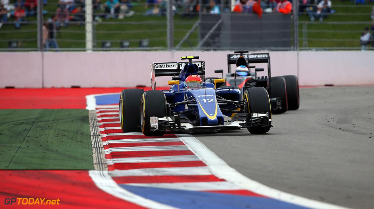 Russian GP Race 11/10/15 Felipe Nasr (BRA), Sauber F1 Team.  Sochi Autodrome.  Russian GP Race 11/10/15 Jad Sherif                       Sochi Russia  F1 Formula 1 One 2015 Sotch Action Nasr Sauber