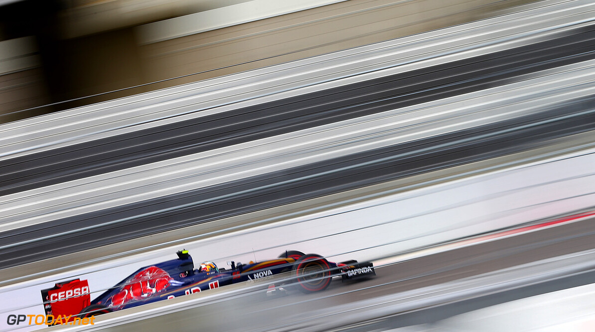 SOCHI, RUSSIA - OCTOBER 10:  Carlos Sainz of Spain and Scuderia Toro Rosso drives during final practice for the Formula One Grand Prix of Russia at Sochi Autodrom on October 10, 2015 in Sochi, Russia.  (Photo by Dan Istitene/Getty Images) // Getty Images/Red Bull Content Pool // P-20151010-00196 // Usage for editorial use only // Please go to www.redbullcontentpool.com for further information. //  F1 Grand Prix of Russia - Qualifying Dan Istitene Sochi Russian Federation  P-20151010-00196