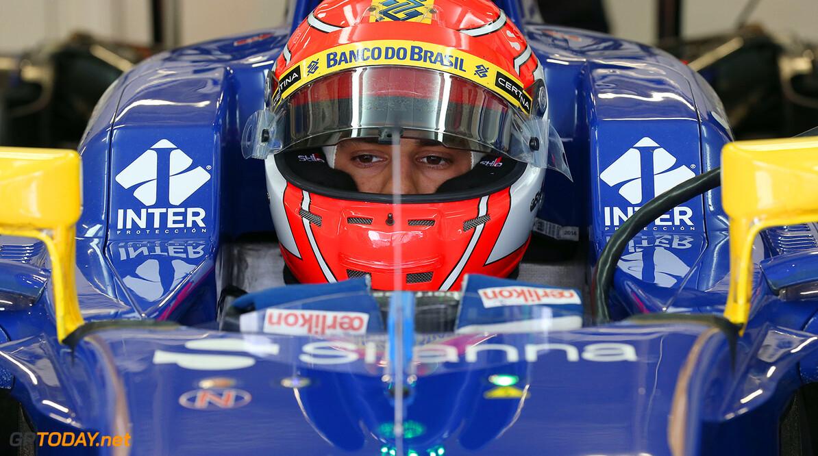 Mexican GP Friday 30/10/15 Felipe Nasr (BRA) Sauber F1 Team.  Autodromo Hermanos Rodriguez.  Mexican GP Friday 30/10/15 Jad Sherif                       Mexico City Mexico  F1 Formula 1 One 2015 pits Ericsson Sauber
