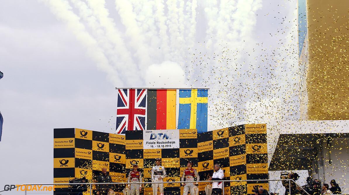 #53 Jamie Green, Audi RS5 DTM, #94 Pascal Wehrlein, Mercedes-AMG C 63 DTM, #5 Mattias Ekstrom, Audi RS5 DTM